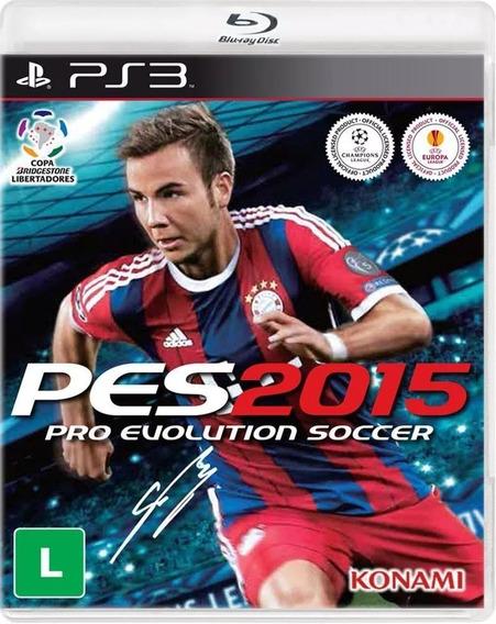 Pes 2015 Playstation 3 Ps3 Novo Lacrado Original M Física