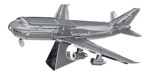 Avion Boeing747 Rompecabezas Metálico 3d En Stock! Envío Ya!