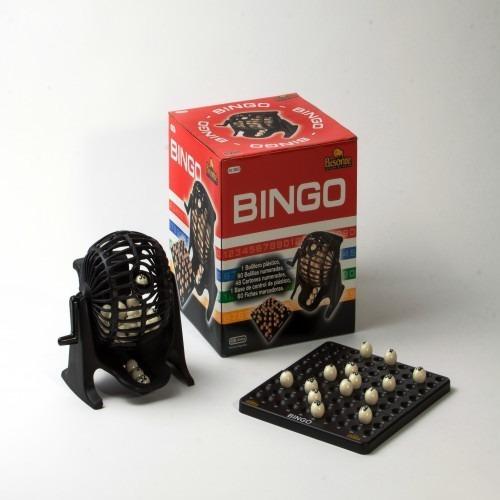 Imagen 1 de 5 de Bingo Bisonte De 90 Bolillas + Bolillero + Portabolilla