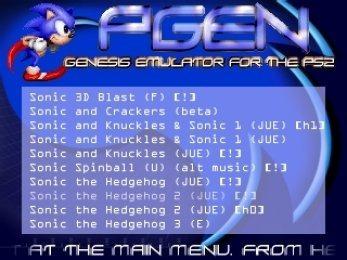 do pgen sega genesis emulator for ps2