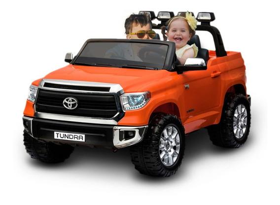 Carrinho Elétrico Infantil Toyota Tundra Laranja 2 Lugares