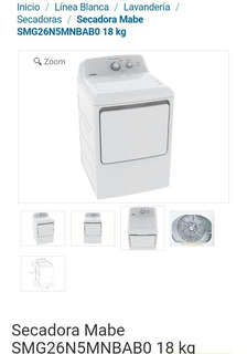 Secadora De Ropa Mabe A Gas 18kg
