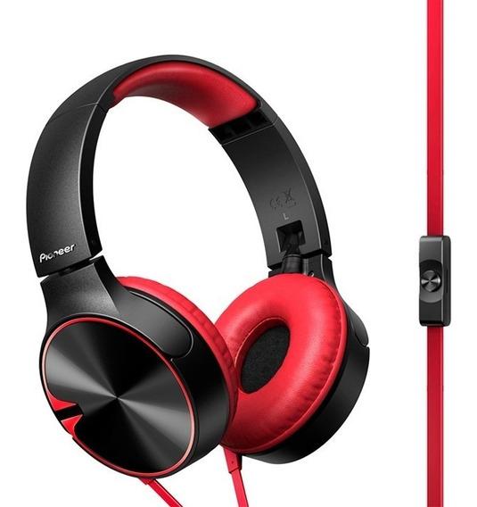 Auriculares Pioneer Rojo Vincha Plegables C/mic Se-mj722t