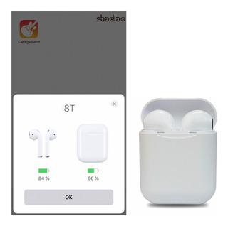 Audifonos Bluetooth Tipo AirPods I8t Tws Boton Fisico Automa