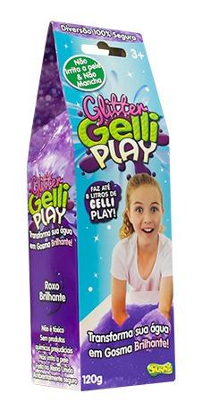 Glitter Gelli Play 120g Roxo Sunny