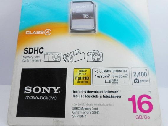 Cartão De Memória Sdhc Sony Class 4 16 Gb - Importado Usa