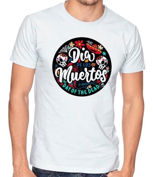 Playera Dia De Muertos Day Of Dead Camiseta Hombre Niño #697