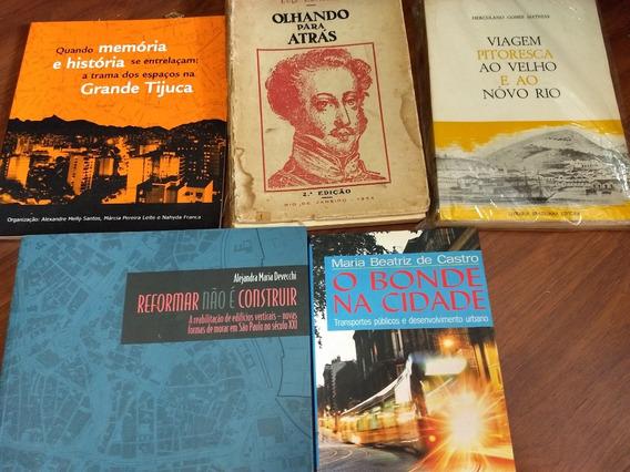 5 Livros Raros Rio E São Paulo Antigos Luiz Edmundo Etc