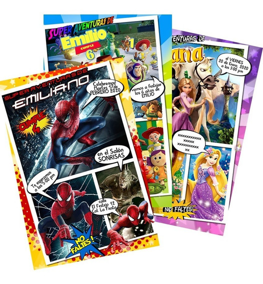 Invitacion Comic Personalizada Revista Halloween