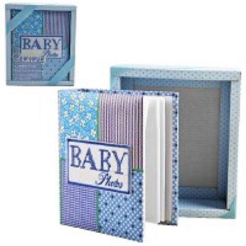 Album De Fotos Livro Do Bebê Fotografico 100 Fotos Azul