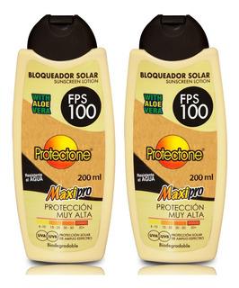 Bloqueador Solar Fps 100 De 200 Ml Protectone 200 Ml C/u.