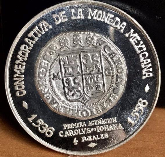 Moneda Soc Numisma Aluciva A 8 R Carlos Y Juana 1971 Plata