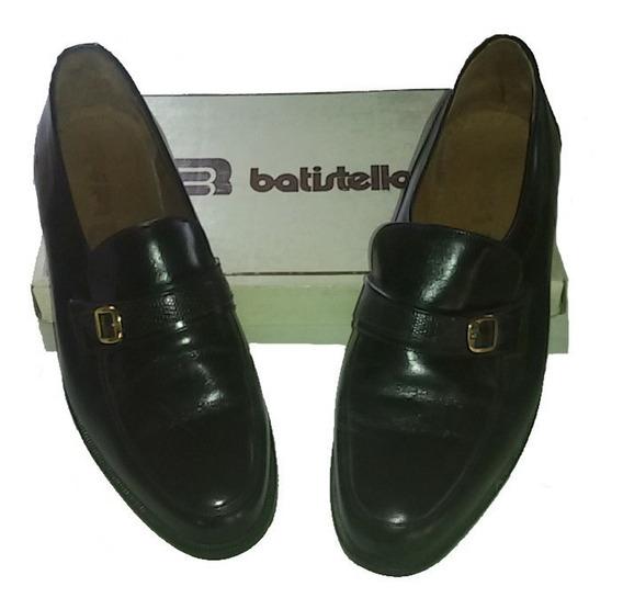 Zapatos Batistella Negros Todo Cuero Talle 45