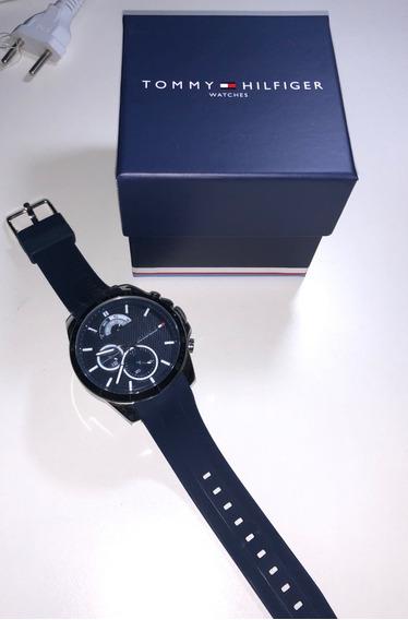 Relógio Tommy Hilfiger Silicone Azul Usado