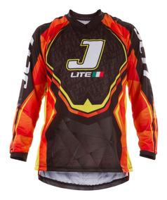 Camisa Motocross Trilha Enduro Por Tork Jett Lite Laranja