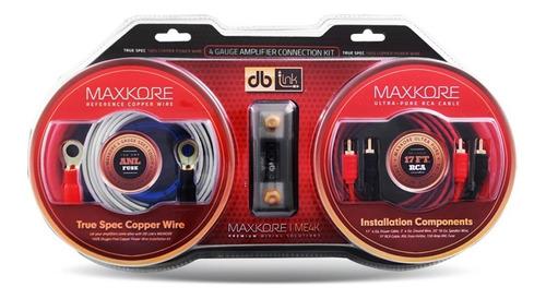 Kit De Instalacion Me4k Calibre 4 Db Link 2000w Maxkore