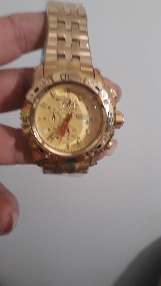 Lindo Relógio Masculino Temeite Original Luxo Dourado Barato