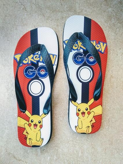 Chinelo Tipo Havaianas Personalizado Pokemon Go