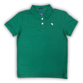 Polo Verde Abercrombie Fitch