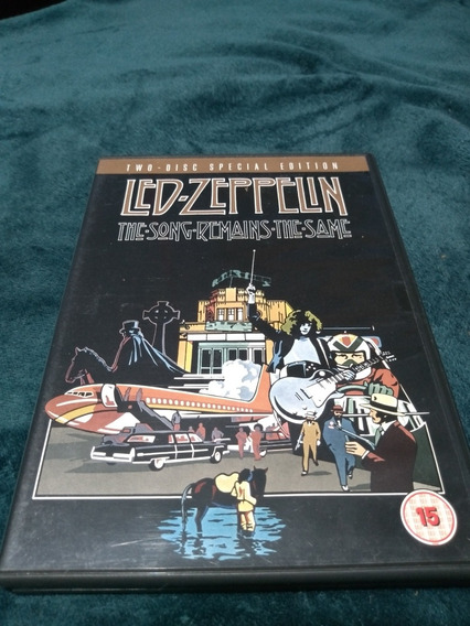 Dvd Duplo Led Zeppelin The Songs Remains The Same Importado