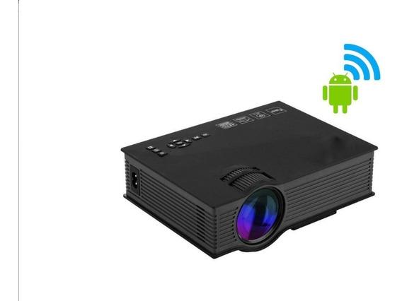 Mini Projetor Led Profissional Uc68 1200 Lumens Hdmi Wifi