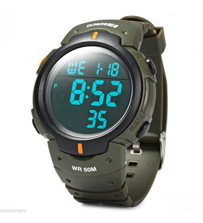 Reloj Sumergible Deportivo Skmei 1068 Luz Cronometro Alarma