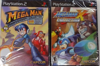 Mega Man Anniversary Coll. + Mega Man X Collection - Ps2
