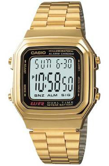 Relógio Casio Original Feminino Vintage A178wga-1adf