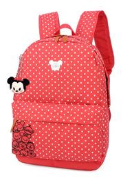Mochila Escolar Feminina Mickey Original Ms45623