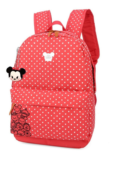 Mochila Escolar Feminina Mickey Original Ms45623