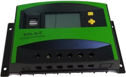 Imagen 1 de 10 de Regulador Para Panel Solar 12v 24v 40a - Electroimpulso