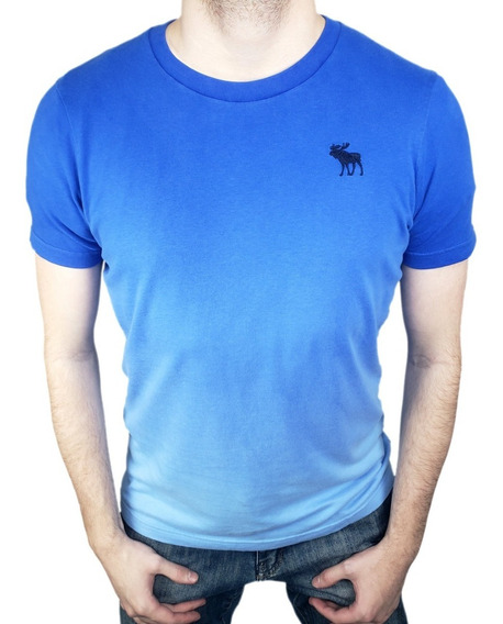 Camiseta Abercrombie & Fitch Original - Modelo A&f Blue Degradê - Ecominove Outlet
