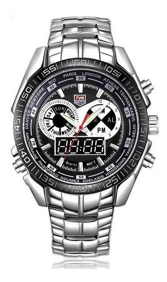 Relógio De Luxo Tvg Seals Elite Masculino Led Promoção!!!