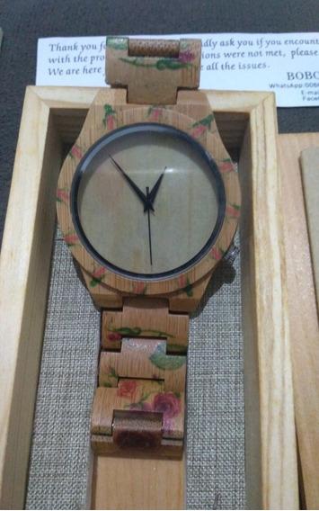 Relógio Feminino Fibra De Bambu (original - Bobo Bird)