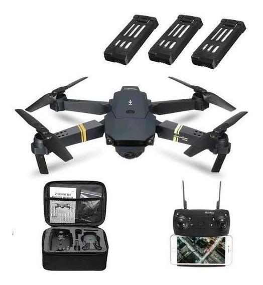 Drone Eachine E58 Wifi - Fpv - 2mp Com 3 Baterias + Maleta