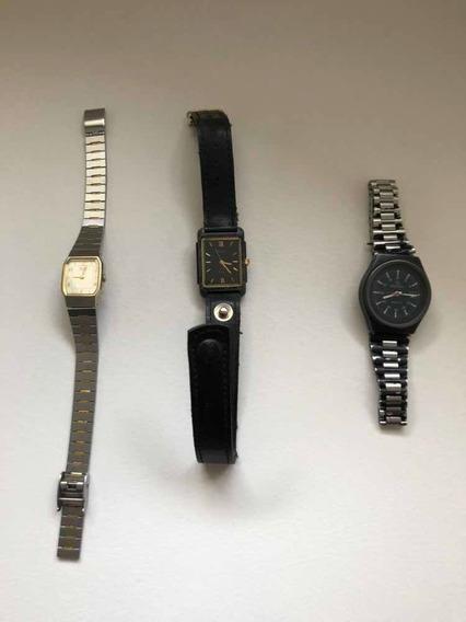 Kit C/ 3 Relógios Antigos P/ Restauração - Leia O Anúncio