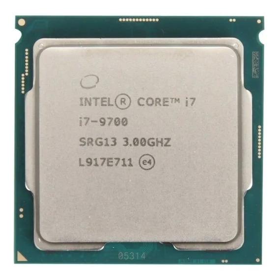 Procesador gamer Intel Core i7-9700 BXC80684I79700 de 8 núcleos y 3GHz de frecuencia con gráfica integrada