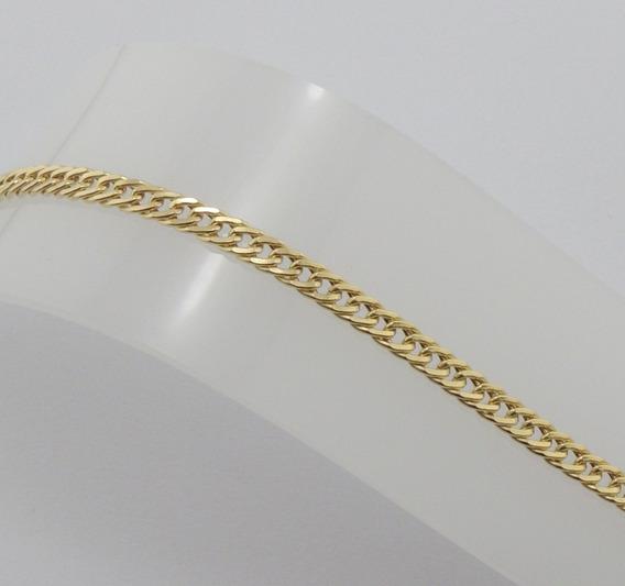 Corrente Grumet Duplo Feminina 60 Cm Ouro 18k Cordão