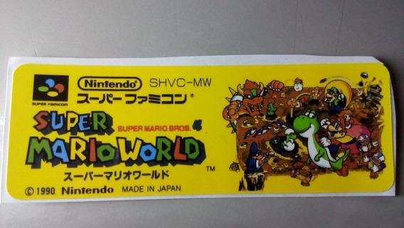 Label Super Mario World Famicom Snes Super Nintendo Japonesa