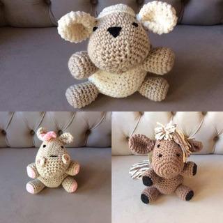 Amigurumis Animalitos Peluches Tejido Crochet Hipoalergenico