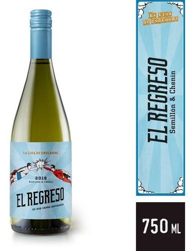 Imagen 1 de 3 de Vino El Regreso Chenin Blanc Liga De Los Enologos X750ml