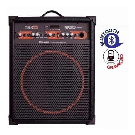 Caixa De Som Multiuso Ll Audio Trx12 Gravador Usb 55w