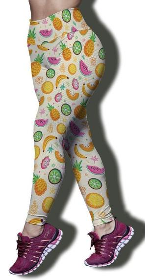 Calça Legging P/ Academia Top, Frutas