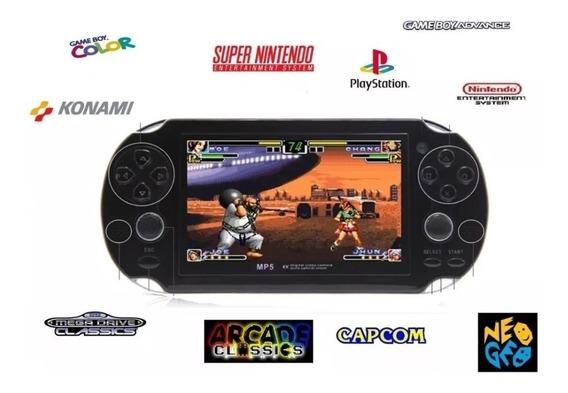 Vídeo Game Portátil Jogos Ps1 Snes Mega Neo Geo