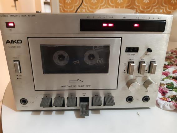 Tape Deck Toca Fita Som Aiko Td 3000 Funcionado !