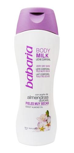 Crema Babaria Body Milk Almendras Pieles Muy Secas 500 Ml