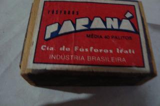 01 Caixa Madeira Fosforos Irati / Parana