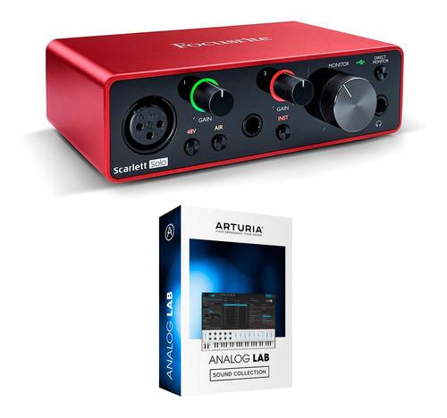 Imagen 1 de 10 de Placa De Audio Focusrite Scarlett Solo 3ra Generacion Cuotas
