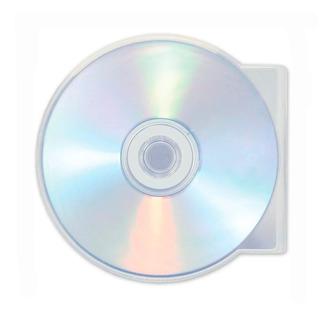 Caja Para Cd Plastica Shell Circular Ostra Unidad