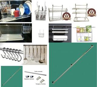 Repisa 6 Accesorios Oganizador De Platos Cocina Barral